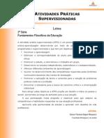 ATPS Fundamentos Filosoficos Educacao
