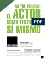 Cornago, Óscar - Actuar como testigo de sí mismo