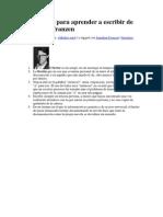 10 Consejos Para Aprender a Escribir de Jonathan Franzen