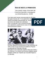 HACE 43 AÑOS SE INICIÓ LA  PRIMAVERA