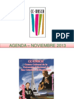 - AGENDA – NOVIEMBRE  2013