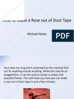 how to make a rose out of duct