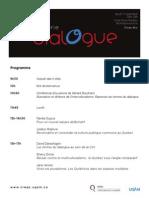 Programme série Dialogue