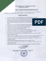 Cronograma Para Elecciones Del CAL. Julián Palacin Fernández