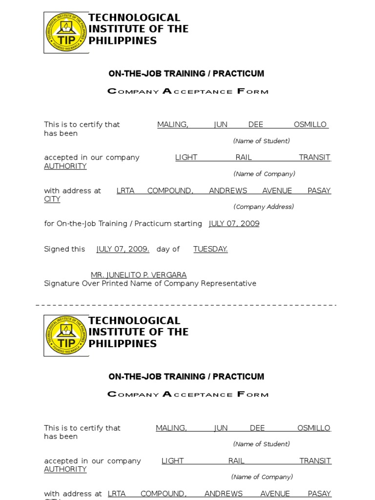 5 sample certificate for ojt wanted poster outline create tickets ojt certificate of completion template image collections 1513314027v1 ojt certificate of completion yadclub Image collections