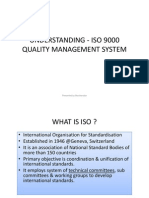 UNDERSTANDING - ISO 9000 QUALITY MANAGEMENT SYSTEM