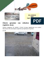 Chove granizo em cidades da Paraíba, registra Aesa