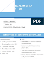 Birla Commitee Report on Corporate Governance