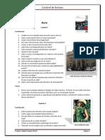 Aura - cuestionario por capítulo