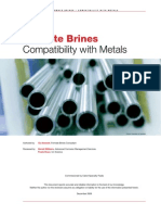Brine Compatibility with metal
