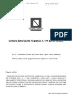 Delibera Della Giunta Regionale Agc18 1 n 474 Del 31-10-2013