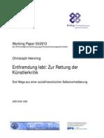 Henning - Entfremdungskritik