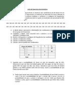 Lista Exercícios de Estatística