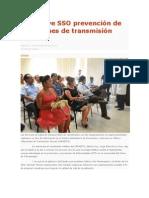 30/10/13 cronicaoaxaca Promueve SSO prevención de infecciones de transmisión sexual