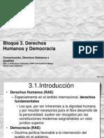 Presentación Bloque 3. Derechos Humanos y Democracia