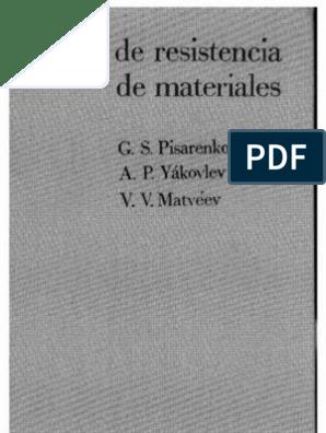 Resistencia de Mateiales- Pisarenko, Yacovlev, Matveev
