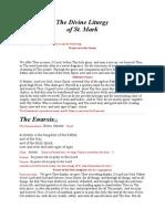 St. Mark Divine Liturgy.doc