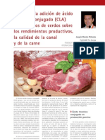 Cría y Salud 26_66-70 Efecto de la adición de ácido linoleico conjugado (CLA) a los piensos de cerdos sobre los rendimientos productivos, la calidad de la canal y de la carne