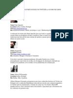 Top 25 - Jornalistas Portugueses No Twitter No @Comunicamos