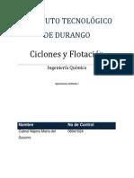 Ciclones y Flotación1
