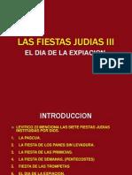 Las Fiestas Judias III El Dia de La Expiacion.