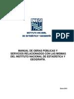 Manual de Obras Publicas y Sevicios Rel Con Las Mismas de INEGI