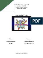 Tic y Software Libre.