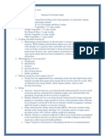 nutrition test study guide