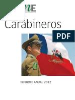 Informe Anual Carabineros 2012