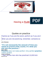 Plan for your football practice