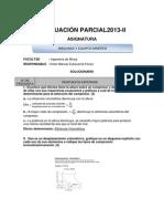 SOLUCIONARIO Examen Parcial 14 Octubre 13 MÁQUINAS Y EQUIPOS MINEROS