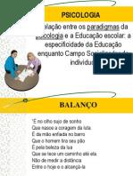 Relação entre os paradigmas da psicologia -apresentação