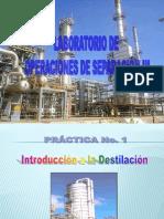 Introduccion de Destilacion