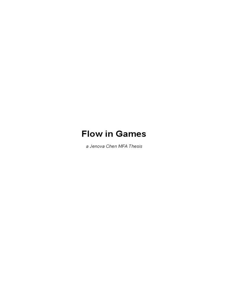 jenova chen flow thesis