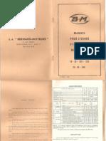Bernard 19-39-139 239-29-49 249 Notice Entretien Moteur