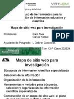 Mapa de sitio web para investigación