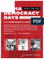 Media Democracy Days 2013 Program Guide