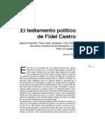 Destamento Politico de Fidel Castro