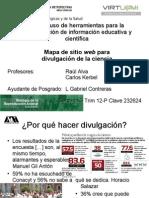 Mapa de sitio web para divulgación de la ciencia