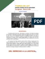 Fuerza de Ley-Derrida