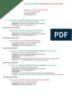 Calendario 2013 - Mesas y Feriados