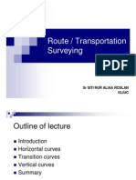 Surveying BEC102 8 - Route