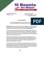 Environmental Groups Endorse Rennia