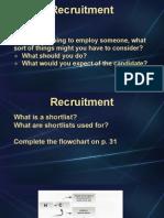 Unit 5 - Recruitment
