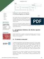 A Política Agrária no Brasil