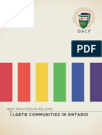 Best Practices in Policing and LGBTQ Communities in Ontario