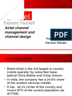 Airtel Channel Management and Channel Design