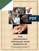 TERAPIA OCUPACIONAL Plan Gerontologico Institucional - Corporacion Hogar Sendero de Luz