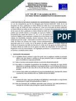 Edital ConcursoTA133 2013 Agronomo Ufu