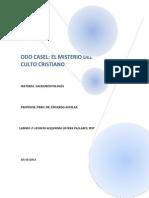 Odo Casel - El Misterio Del Culto Cristiano